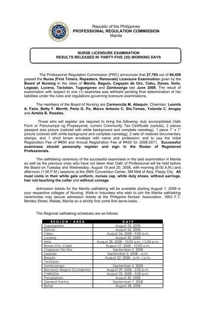 Republic Of The Philippines Nursing Guide