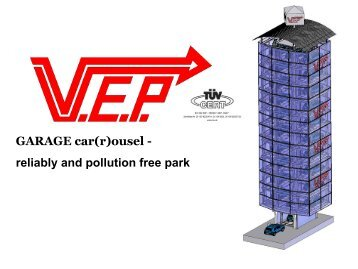 GARAGE car(r)ousel - reliably and pollution free park - vep.at