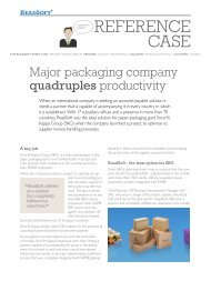 Major packaging company quadruples productivity - ReadSoft