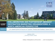 collaboration and partnership amongst destination marketing ...