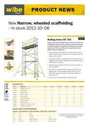 Product news RT 750 (pdf) - Wibe Ladders