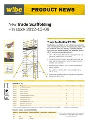 Product news FT 750 (pdf) - Wibe Ladders