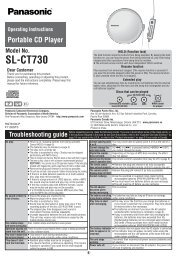 SL-CT730 - Operating Manuals for Panasonic Products - Panasonic