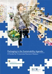 Packaging in the Sustainability Agenda: A Guide - Europen