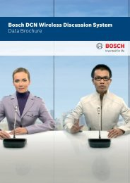 Bosch DCN Wireless Discussion System Data Brochure