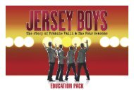 EDUCATION PACK - Jersey Boys Australia
