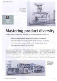 Mastering product diversity - Uhlmann Pac-Systeme GmbH & Co. KG