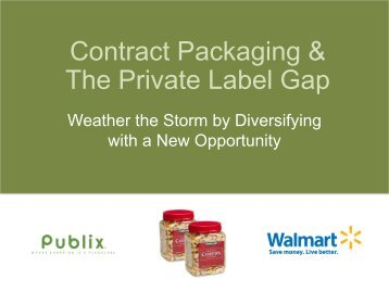 Contract Packaging & The Private Label Gap