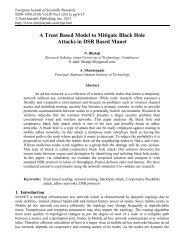 A Trust Based Model to Mitigate Black Hole Attacks ... - EuroJournals