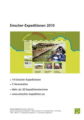 Emscher-Expeditionen 2010 - Ruhr 2010