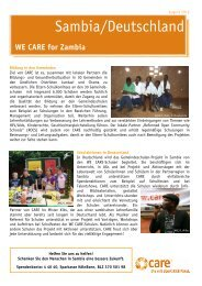 Download CARE Spezial WE CARE FOR ZAMBIA