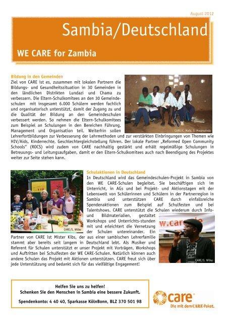 Download CARE Spezial WE CARE FOR ZAMBIA