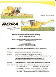 Das vollständige Tagesprogramm können Sie ... - ROPA Fahrzeug