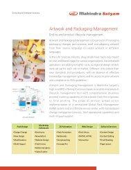 Artwork and Packaging Management - Mahindra Satyam