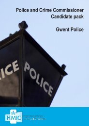 Gwent, Police and crime commissioner candidate pack (PDF - HMIC