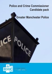 Police and Crime Commissioner Candidate pack Greater ... - HMIC