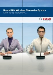 Bosch DCN Wireless Discussion System Anywhere people meet...