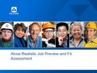 Alcoa Realistic Job Preview and Fit Assessment
