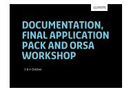 DOCUMENTATION, final Application PACK and ORSA ... - Lloyd's