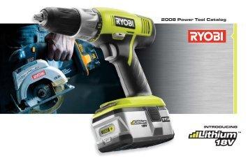2008 Power Tool Catalog - Ryobi