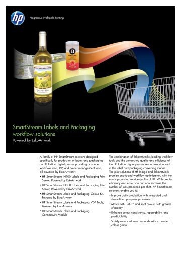 SmartStream Labels and Packaging workflow solutions - HP