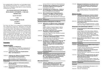 Programm - Deutsche Gesellschaft für Moor