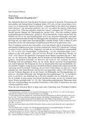 Otto Friedrich Bollnow Besprechung: Eugène Minkowski: Die ...