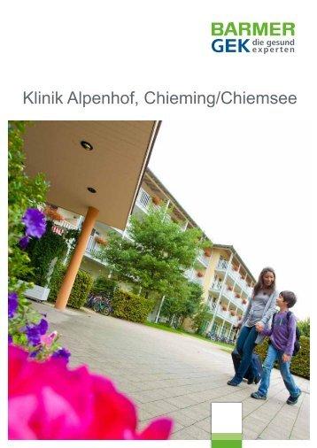 Klinik Alpenhof - Chieming/Chiemsee ( PDF , 271 KB ) - Barmer GEK
