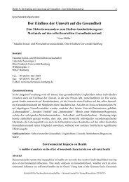 Der Einfluss der Umwelt auf die Gesundheit - Zeitschrift für ...
