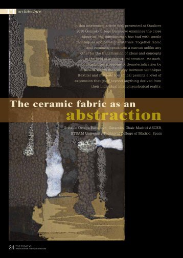The Ceramic Fabric as an Abstraction - Infotile