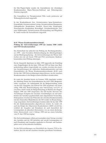 191 Im Otto-Wagner-Spital wurden die Journaldienste der ...