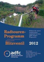 Radtouren- Blitzventil Programm 2012 - ADFC Siegen-Wittgenstein