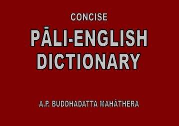 Concise Pāli-English Dictionary - Wat Florida Dhammaram