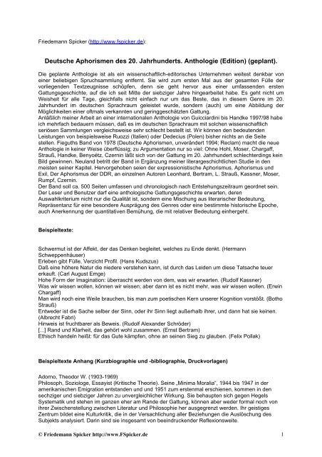 Zusammenfassungbeispieltexteautoren Friedemann Spicker