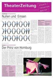Theaterzeitung Januar