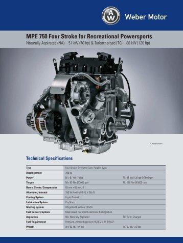 MPE 750 Four Stroke for Recreational Powersports - Weber Motor ...