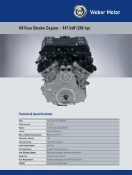 V4 Four Stroke Engine – 147 kW (200 hp) - Weber Motor: Weber Motor
