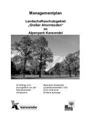 Managementplan - Alpenpark Karwendel