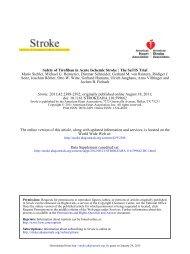 Major Clinical Trial Safety of Tirofiban in Acute Ischemic Stroke The ...