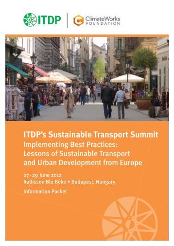 ITDP's Sustainable Transport Summit