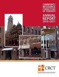 Most recent CRCT annual report - Community Resource ...