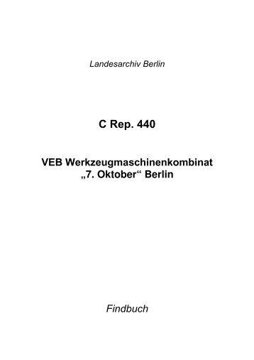 C Rep. 440 - Landesarchiv Berlin