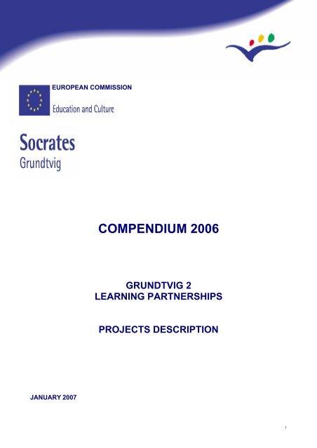 Compendium 2006 Grundtvig 2 Learning Partnerships Na Bibb