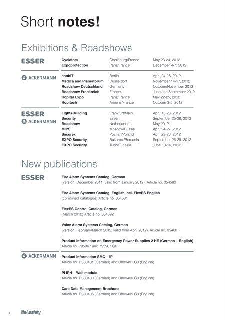 12 ESSER Roadshows around the world - ESSER by Honeywell