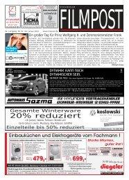 Ausgabe 2 vom 9. Januar 2013 - auf filmpost.de