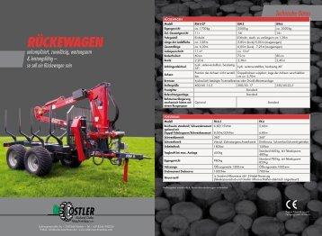 Rückewagen mit Forstkran - Ostler Maschinenbau GmbH