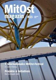 Projekte & Initiativen 7. Internationales MitOst-Festival - MitOst e.V.