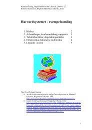 Harvardsystemet - exempelsamling - Högskolan i Skövde