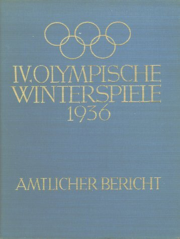 IV. Olympische Winterspiele 1936 - LA84 Foundation