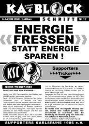 ENERGIE FRESSEN - Supporters Karlsruhe 1986 eV
